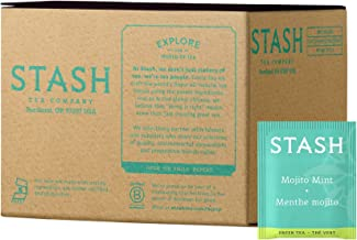 Stash Tea Mojito Mint Green Tea & Matcha Blend 100 Count Tea Bags in Foil (Packaging May Vary) Individual Green Tea Bags for Use in Teapots Mugs or Cups, Brew Hot Tea or Iced Tea