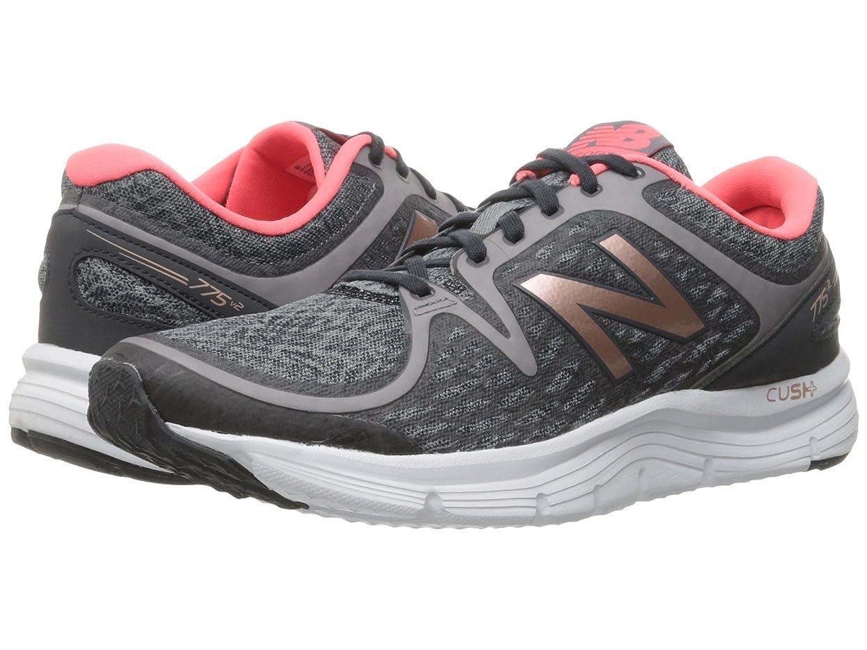 性格悲しいことに愛撫(ニューバランス) New Balance レディースランニングシューズ?スニーカー?靴 775 V2 Grey/Pink 10.5 (27.5cm) B - Medium