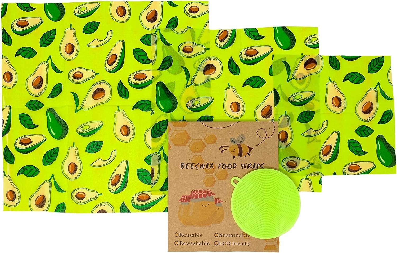 Beeswax Reusable Food Wraps w Free Scrubber Columbus Mall Arlington Mall Produce 3 Sizes -
