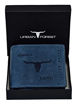 Urban Forest Montana Blue Mens Leather Wallet