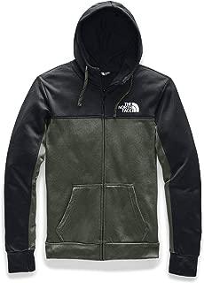 Men's Surgent Bloc Full Zip Hoodie 2.0, TNF Black Topo Print/New Taupe Green Heather, S