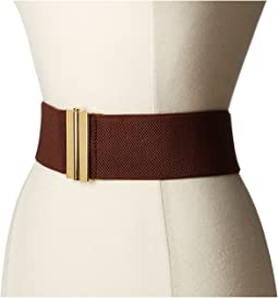 "LAUREN Ralph Lauren 2 1/2"" Dress Beveled Sliding Interlock on Stretch Strap"