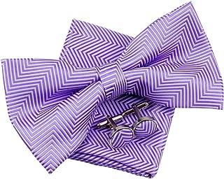 15a27ec501741 Motif à chevrons tissé à rayures pre-tied Nœud Papillon (12,7 cm