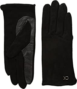 Calvin Klein - Basic Suede/Leather Mix Gloves