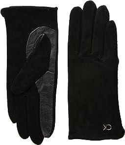 Calvin Klein - Basic Suede/Leather Mix Gloves