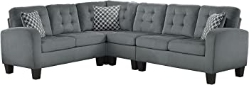 Homelegance Sinclair L-Shaped 2 Piece Sectional Sofa