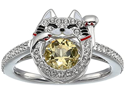 Swarovski Sparkling Dance Cat Ring (Ceramic Canary Yellow) Ring