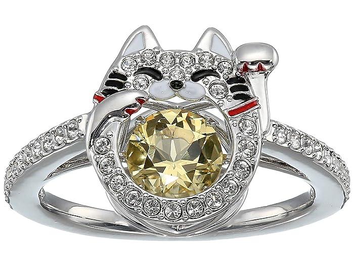 Swarovski  Sparkling Dance Cat Ring (Ceramic Canary Yellow) Ring