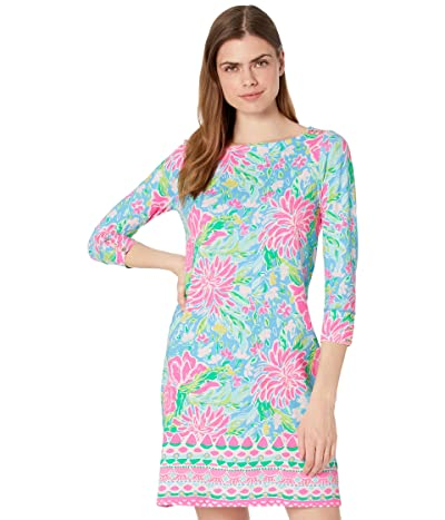 Lilly Pulitzer UPF 50+ Sophie Dress (Zanzibar Blue Blue Bunny Business Engineered Dress) Women