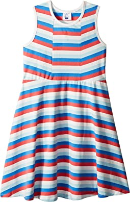 Multi Stripe Skater Dress (Toddler/Little Kids/Big Kids)