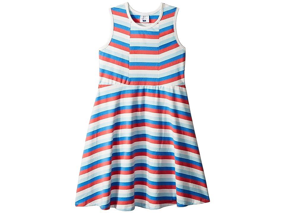 Toobydoo Multi Stripe Skater Dress (Toddler/Little Kids/Big Kids) (Multi) Girl
