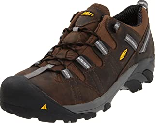 KEEN Utility Men's Detroit Low ESD Steel Toe Work Boot,Dark Brown,9 EE US