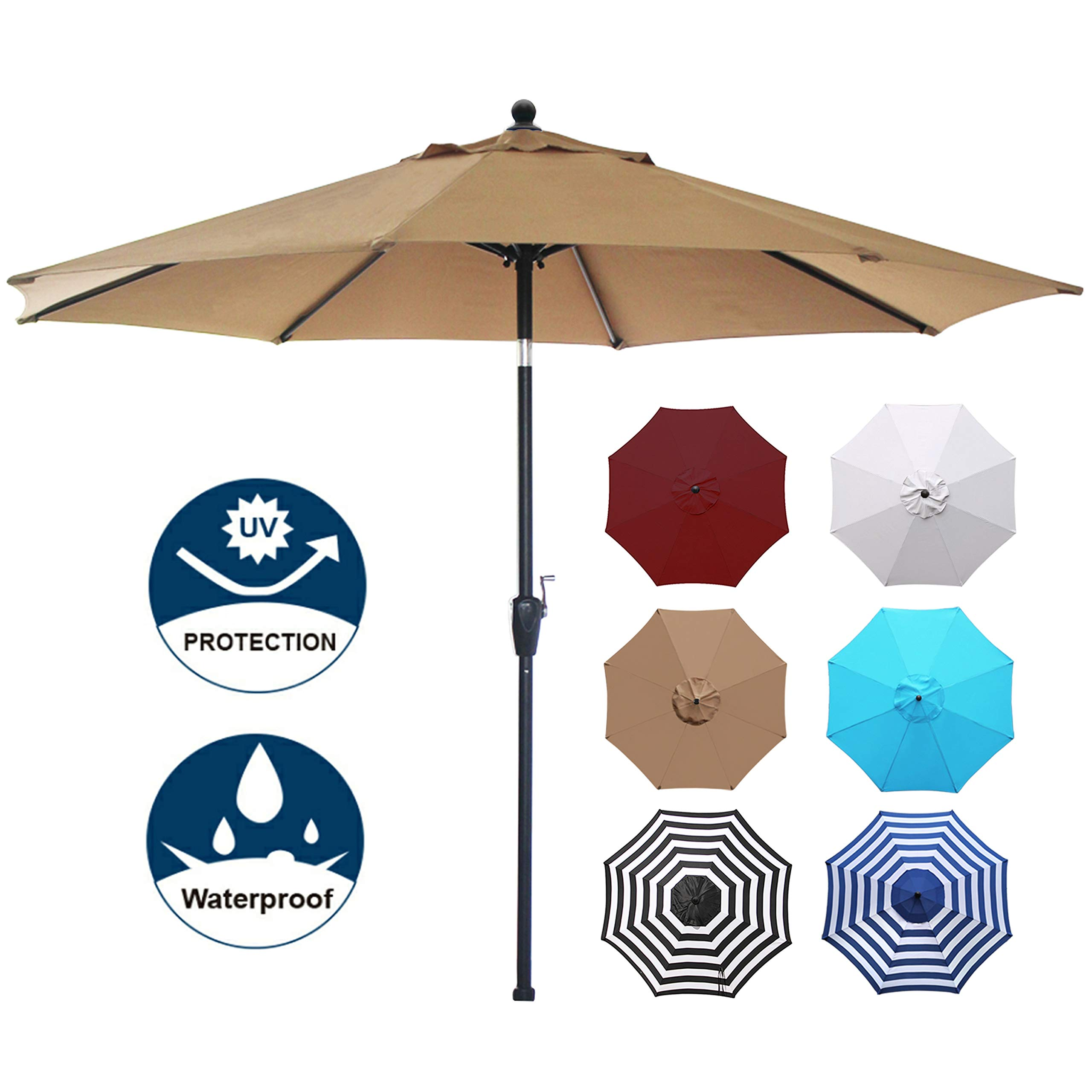 Blissun Umbrella Aluminum Manual Parasol
