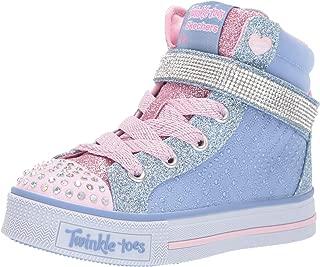 Skechers Australia Twinkle LITE - Beauty-N-Bling Girls Training Shoe, Light Blue/Pink