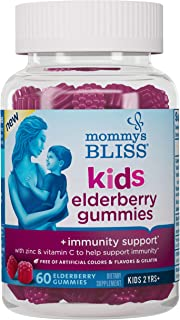 Mommy's Bliss Organic Kids Elderberry Gummies, Promotes Immunity Support (2 Years+), 60 Gummies