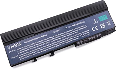 vhbw Akku passend f r Acer Extensa 3100 4620-Serien Laptop Notebook Li-Ion 6600mAh 11 1V 73 26Wh schwarz Schätzpreis : 52,81 €