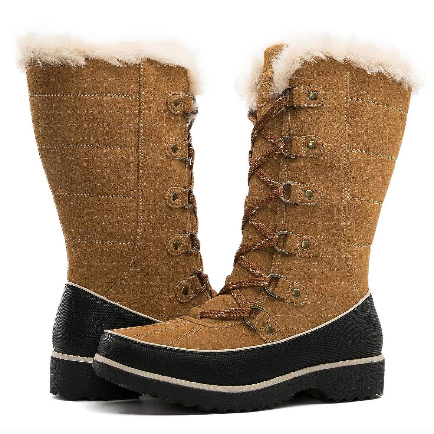 毎年高音お[Global Win] Women`s Fur Trek Winter Bootsレディースファートレックウィンターブーツ (並行輸入品)