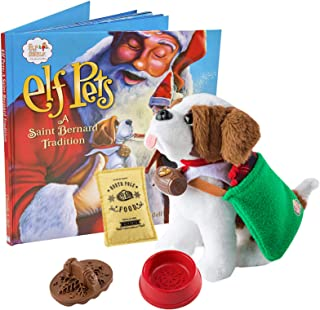 Elf on The Shelf Elf Pets Saint Bernard with Claus Couture Collection Good Tidings Toy Tote & Scarf Bundle