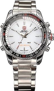 Mako Shark Digital Date Display Analog Men's Sport White Dial Quartz Wrist Watch SH004