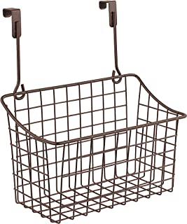 Spectrum Diversified Grid Storage Basket, Over the Cabinet, Medium, Bronze
