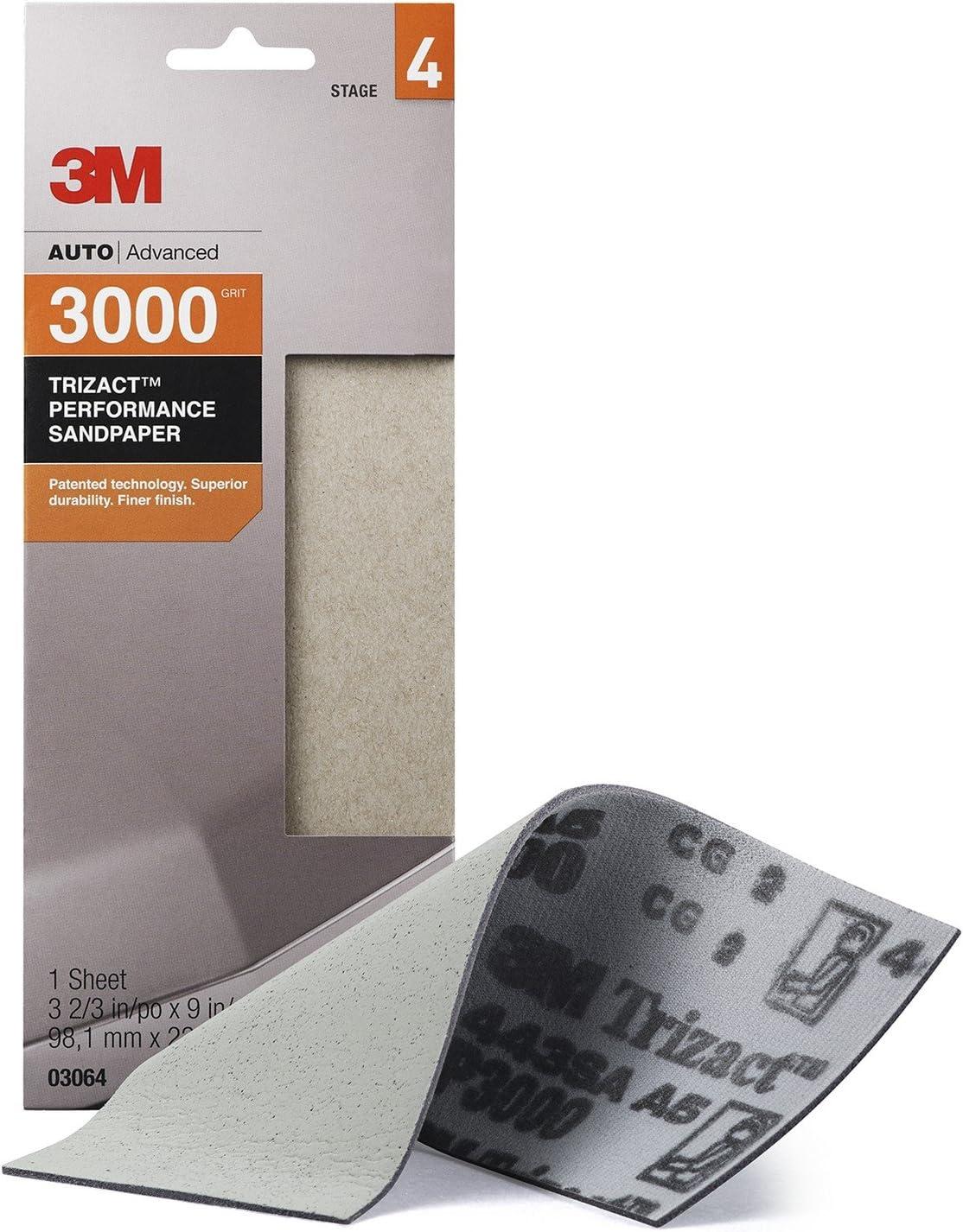 3M Trizact Performance Sandpaper, 03056, 5000, 3 2/3 in x 9 in: Garden & Outdoor