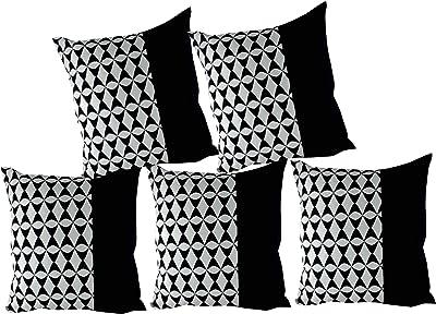 VIshal Kumar VISHAL STORE Cotton Cushion Covers (40X40 cm, White) - Set of 5
