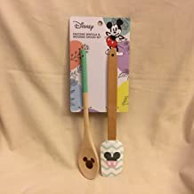 Best Brands Mickey Ears Kitchen Teal Zigzag Pastel Silicone Spatula & Wooden Spoon Set