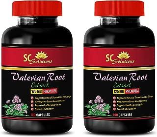 Blood Pressure Heart Rate - Valerian Root - Premium Extract 125MG - Valerian melatonin Sleep aid - 2 Bottles (200 Capsules)