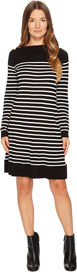 Kate Spade New York - Stripe Swing Sweater Dress