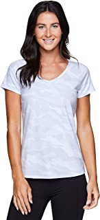 RBX Active Women's Athletic Fashion Running Yoga Peached Ultra Soft Short Sleeve T-Shirt