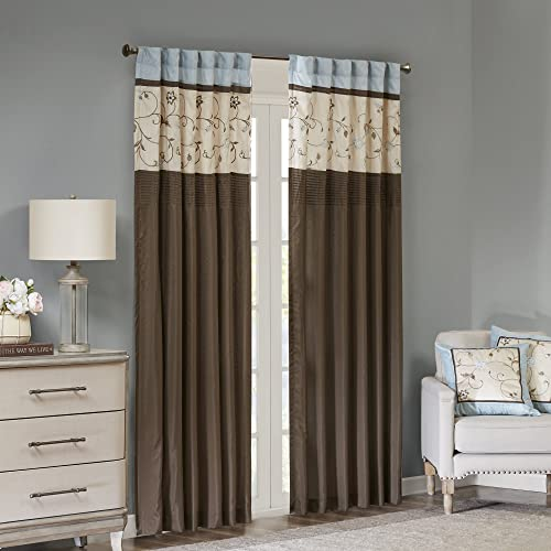Blue And Brown Curtains Amazoncom