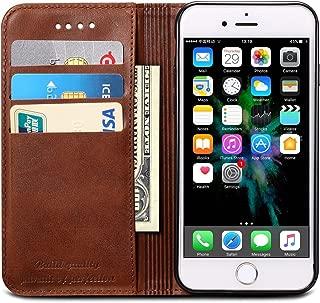 SINIANL iPhone 6 Plus Case, iPhone 6S Plus Case, Premium Leather Wallet Case Business Credit Card Holder Folio Flip Cover for iPhone 6 Plus / 6S Plus