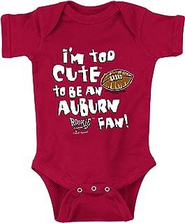 Alabama Football Fans. Too Cute Crimson Onesie (NB-18M) (6M)