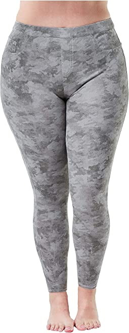 Plus Size Jean-ish Ankle Leggings
