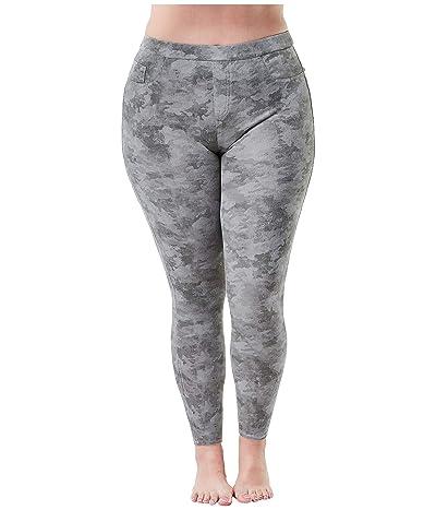 Spanx Plus Size Jean-ish Ankle Leggings (Stone Wash Camo) Women