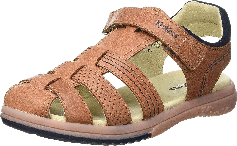 Kickers Max 66% OFF Boy's Open Alternative dealer Toe Sandals