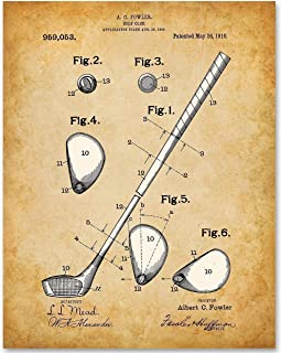 Golf Club - 11x14 Unframed Patent Print - Makes a Great Gift Under $15 for Golfers