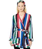 Rainbow Stripe Pajama Robe + Headband Set