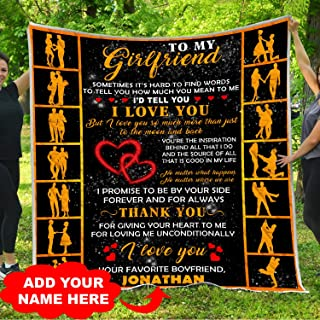 Personalized Name To My Gorgeous Girlfriend Quilt Blankets King Queen Full Twin Size Cute Sentimental Christmas Birthday Anniversary Custom Customized Aniversity I Appreciate You Gifts from Boyfriend