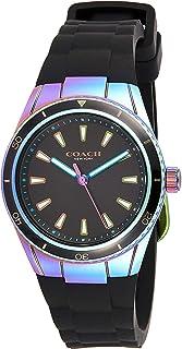 ساعة يد كوارتز للنساء، سيليكون اسود - 14503528، من كوتش