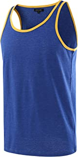 HETHCODE Men's Classic Basic Athletic Jersey Tank Top Casual T Shirts