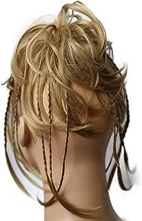 PRETTYSHOP XXL Postizo Coletero Peinado alto, VOLUMINOSO, rizado, Moño descuidado Medium rubio # 22T G16D
