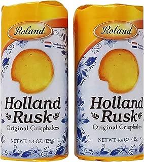 Roland-Holland Rusk Original Breakfast Food Crispbakes, Crusmbly Light Toasts