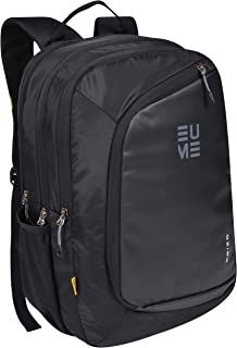 EUME Brizo 32L 防水バッグ 3つのコンパートメント付き カジュアルバックパック オフィス/旅行/大学用 男女兼用 (ブラック)