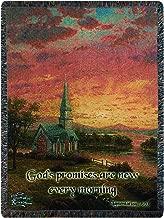 Manual Thomas Kinkade 50 x 60-Inch Tapestry Throw with Verse, Sunrise Chapel