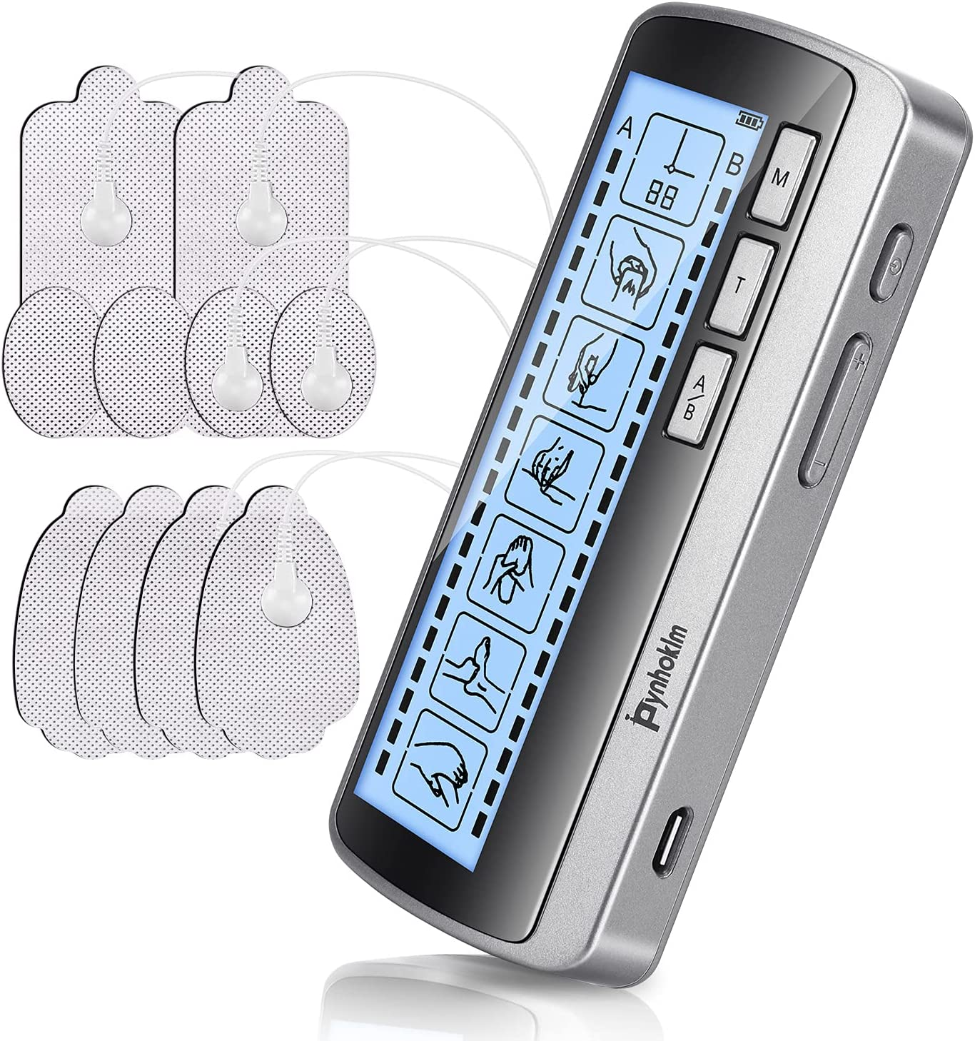 Pynhoklm Dual Channel TENS EMS Max 55% OFF Rechargeable 2021 new Stimulat Unit Muscle