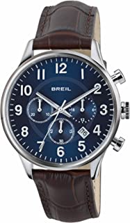 BREIL - Contempo Men's Chronograph Watch, Chrono Quartz Movement and Leather Strap