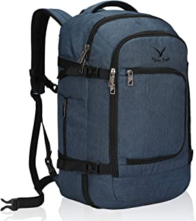 Hynes Eagle Travel Backpack 40L Flight Approved Carry on Backpack, Blue-2018