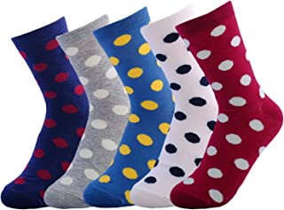 JOYCA & Co. Womens All Season Novelty Cute Casual Cotton Crew Socks Gift For Girls And Women (Pack of 5)