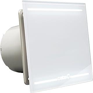 Cata | Extractor baño | Modelo e- 100 Gth BK | Estractor de baño Serie e Glass | Ventilador Extractores de aire | Extractor baño silencioso | Extractor aire para baño | 6 unidades